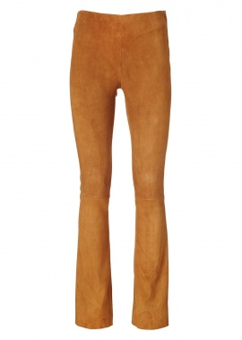 13341 Leggings, boot cut, ela suede cognac