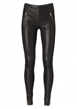13148 Leggings, cropped, zipper pockets, caviar black