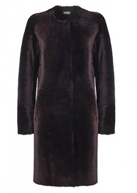 51134 Coat, merino plum