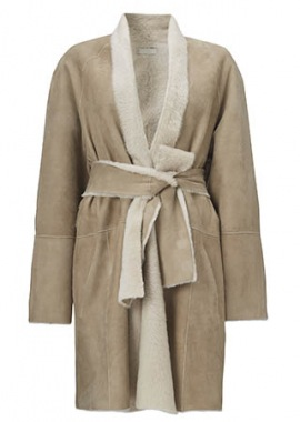 51135 Coat, wrap around, lacon beige