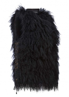 7093 Vest, Tibet lamb w. ela lamb panal