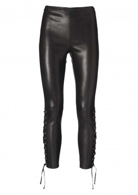 13342 Leggings  eyelets  & strings, ela lamb caviar, black