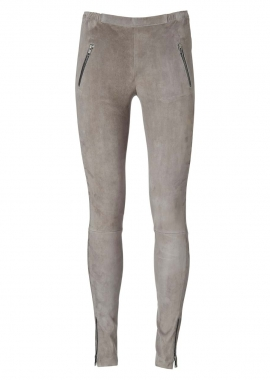 13351 Leggings, zipper pockets, ela suede frost grey