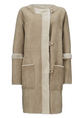 51133 Coat, lacon beige