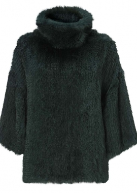 7082 Sweater, knitted rabbit, forrest green