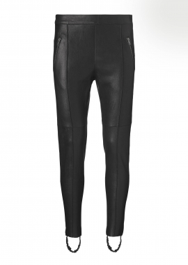 13370 Ski pants, ela lamb black caviar