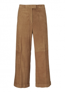 13372 Cropped tailored trousers pressfold