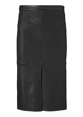 14347 Long pencil skirt, ela lamb caviar black