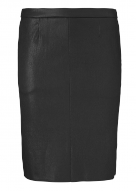14349 Short pencil skirt, ela lamb caviar black