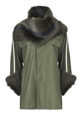15670 Army shirt w. shearling toscana