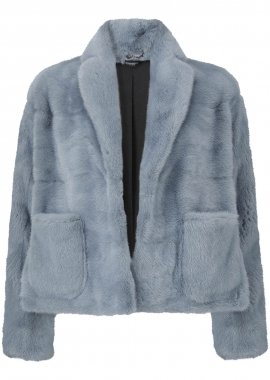 7096 Jacket, mink, sky blue