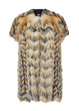 7099A Vest, fox mix, gold cross fox