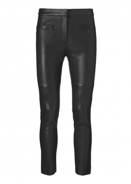 13369 Leggings w. pressfold, ela lamb caviar black