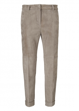 13375 Cropped chino trousers pressfold ela suede