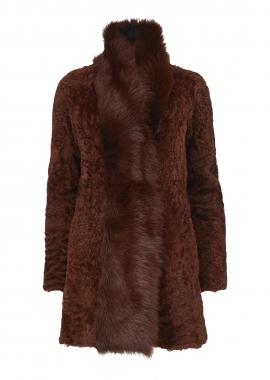 51127 Coat, karakul rust, w. toscana rust