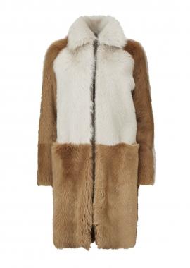 51137 Coat, toscana beige, shearling toscana camel