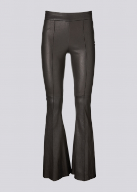 13393 Pants - boot cut ela lamb caviar black