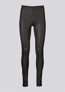 13395 Leggings w/gold zippers ela caviar black