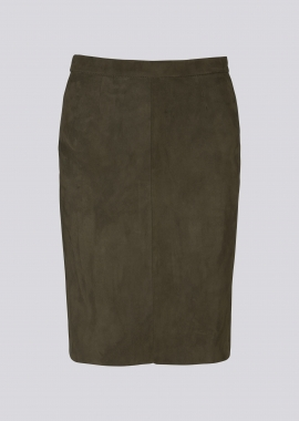 14349 Short pencil skirt ela suede mole