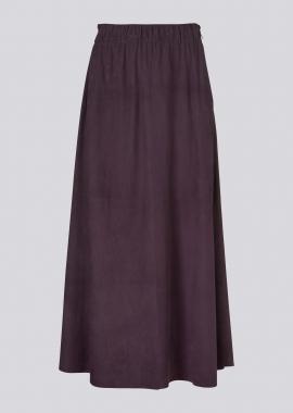 14357 Boho skirt silky suede aubergine
