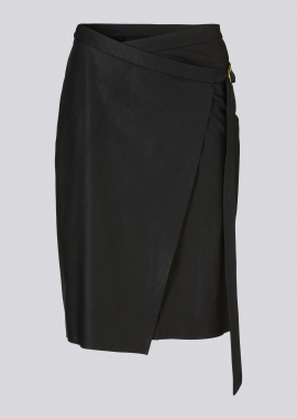 14359 Wrap skirt samanta black