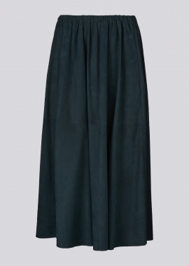 14360 Long skirt silky petrol