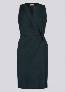 15689 Wrap dress silky petrol