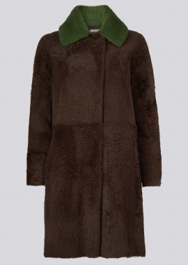 51151 Coat lacon pecan brown