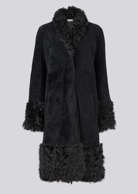 51154 Coat merino/rizo black