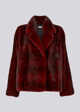 7115 Mink jacket red