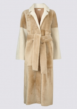 51148 Long coat corderico/merino mix - caramel