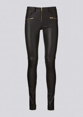 13392 Jeans w. zippers ela lamb black
