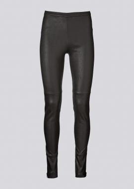 13395 Leggings w/gold zippers ela caviar black