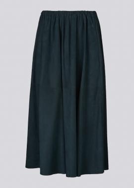 14360 Long skirt silky petrol