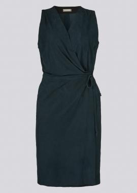 15689 Wrap dress silky petrol