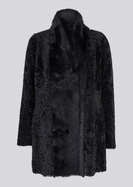 51127 Coat karakul/toscana navy