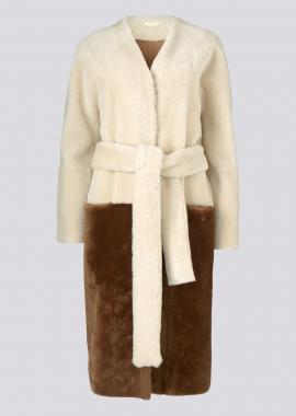 51149 Coat merino mix - chestnut/caramel