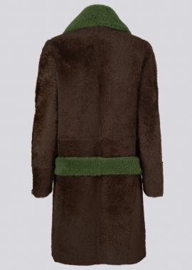 51151 Coat lacon pecan brown back