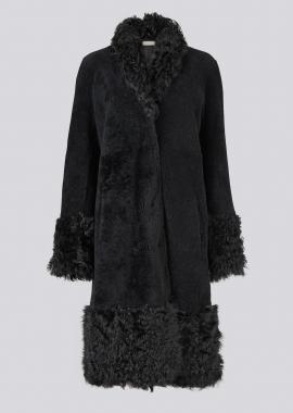 51154 Coat merino/rizo black