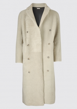 51158 Mens coat merino black/white