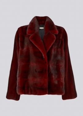 7115 Mink jacket red