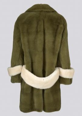 7117 Mink coat army back