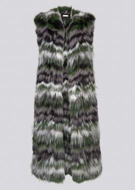 7120 Knitted fox waistcoat