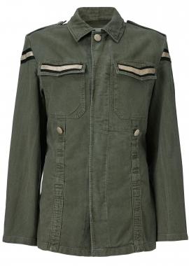 12419 Army jacket w. black samantha