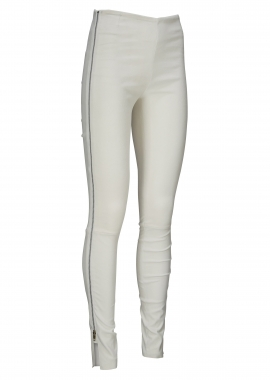 13336 Ela lamb suede, white, silver zipper
