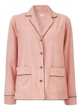 12434 Py jacket, silky suede coral