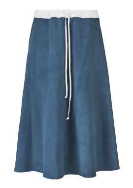 14354 Skirt, suede ocean blue