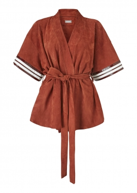 12433 Kimono, suede, rust